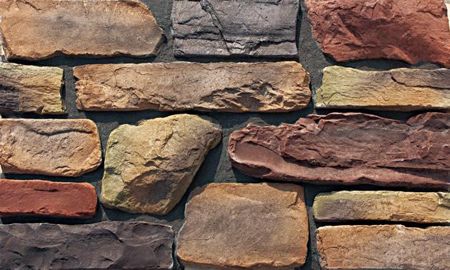 Fuente de resistido el borde cliffstone de paredes de - Paredes de piedra artificial ...