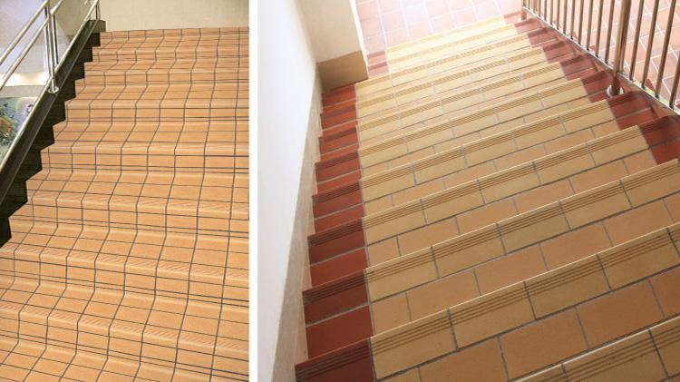 Fuente de baldosa de terracota antideslizante escalera for Baldosas para escaleras